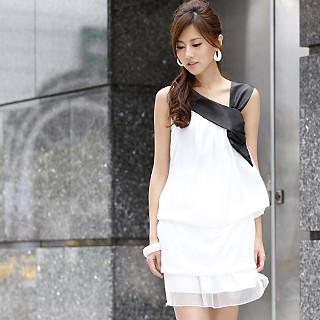 Buy 59th Street Draped Drop-Waist Dress White – One size 1022779346