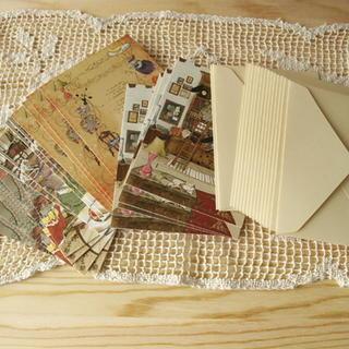 Set: Illustration Greeting Card with Envelop (16 Set) Ivory - One Size 1038404227