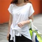 Cap-Sleeve Tie-Waist T-Shirt 1596