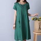 Short-Sleeve A-line Dress 1596