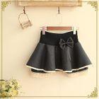 Lace-Trim Layered Mini Skirt 1596