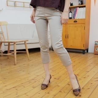 Elastic-Waist Cropped Pants