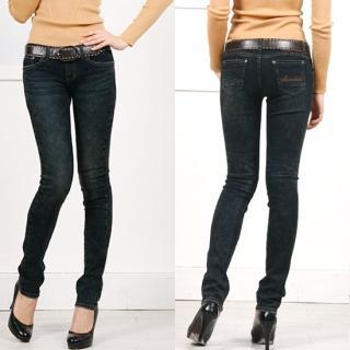 Bloom Girl Skinny Jeans 1021886409   Womens Asian Pants