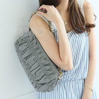 Buy SkyBlue Chain-Strap Shirred Handbag 1023037962