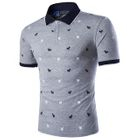 Goat Print Polo Shirt Gray - 5XL от YesStyle.com INT