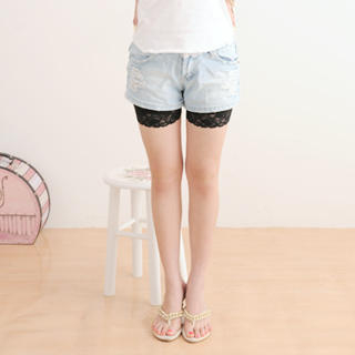Picture of 59 Seconds Lace-Trim Shorts 1020587757 (Womens Shorts, 59 Seconds Pants, Hong Kong Pants)