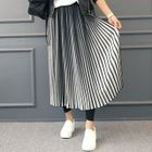 Inset Long Accordion-Pleat Skirt Leggings 1596
