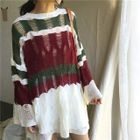 Ribbed Striped Sweater 1596