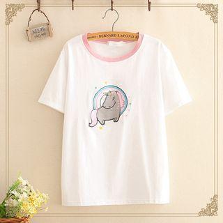 Short-sleeve | Unicorn | T-Shirt | Figure | Size | One