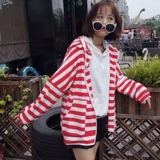 Striped Zip Hoodie 1054076387