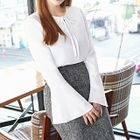 Bell-Sleeve Tie-Front Top от YesStyle.com INT