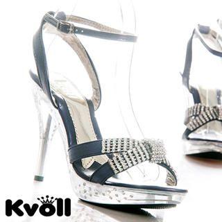 "Buy Kvoll Rhinestone ""Bow"" Platform Sandals 1022512415"
