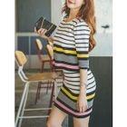 Set: Stripe Knit Top + Skirt 1596