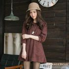 Puffed Elbow Sleeve Knit Tunic 1596