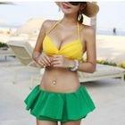 Set: Plain Bikini + Frilled Cover-Up 1596