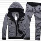 Set: Hooded Color-Block Jacket + Sweatpants 1596