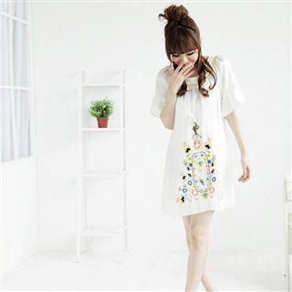 Buy MARLOCA Bell Sleeve Patterned Dress 1022561563