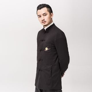 Chinese-Style Frog-Button Embroidered Jacket