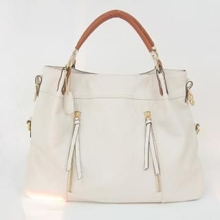 Picture of AKA Tassel Accent Faux-Leather Tote 1022469440 (AKA, Tote Bags, Korea Bags, Womens Bags, Womens Tote Bags)
