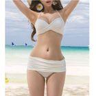 Set: Plain Bikini + Lace Cover-up 1596