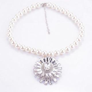Rhinestone Faux-Pearl Necklace 1037658328