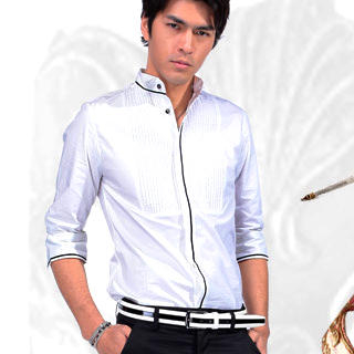 Picture of Justyle 3/4-Sleeve Pintuck Dress Shirt 1022740464 (Justyle, Mens Shirts, China)