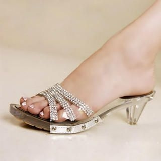 Picture of Kvoll Diamante Clear Sole Mules 1022987776 (Other Shoes, Kvoll Shoes, China Shoes, Womens Shoes, Other Womens Shoes)