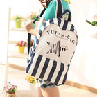 Printed Canvas Backpack 1596