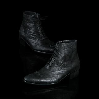 Buy STYLEHOMME Lace-Up Leather Ankle Boots 1022161234