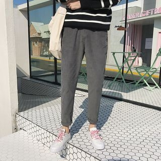 Corduroy Slim-Fit Pants