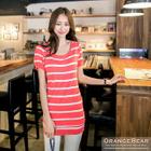 Striped Knit Dress 1596
