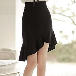 Ruffle Hem Mini Skirt 1049487686