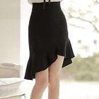 Ruffle Hem Mini Skirt 1596