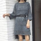 Long-Sleeve Knit Dress 1596