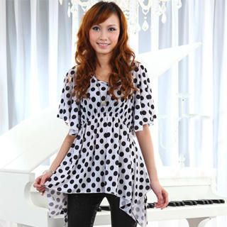 Buy doremi Hanky-Hem Polka-Dot Tunic White – One Size 1022868164