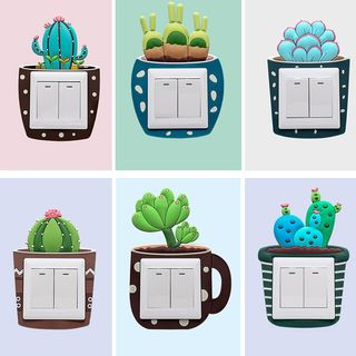 3d Cactus Switch Cover