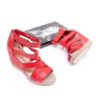 Buy KENZI Ankle Velcro Wedge Sandals 1022814229
