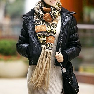 Patterned Knit Scarf 1048323953