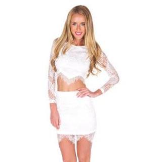Set: Lace Top + Lace Skirt 1042092965