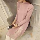 Lace-Panel Knit Dress 1596