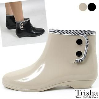 Buy Trisha Button Detail Ankle Boots 1022430032