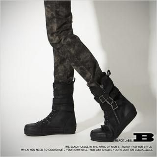 Picture of Style Impact Buckled Laced up Boots 1022253406 (Boots, Style Impact Shoes, Korea Shoes, Mens Shoes, Mens Boots)