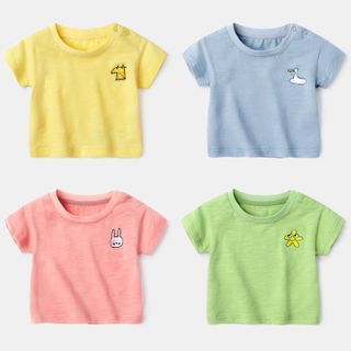 Image of Baby Embroidered Short-Sleeve T-Shirt