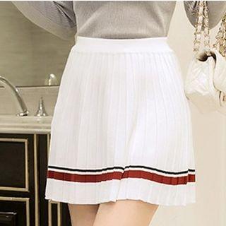Stripe Plain Skirt