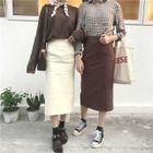 Pencil Midi Skirt 1596