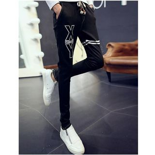 Letter Tapered Pants
