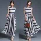 Sleeveless Patterned Maxi Dress 1596