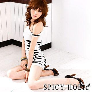 Buy SPICY HOLIC Slashed Tee-Shirt Dress 1022596986