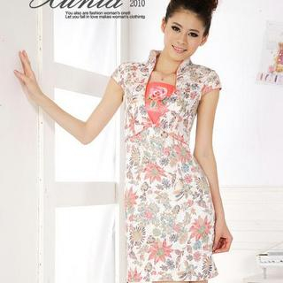 Buy Xunia Embroidered Floral Print Cheongsam 1022955163