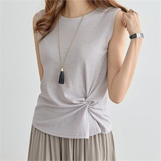 Round-Neck Sleeveless Top 1060713244
